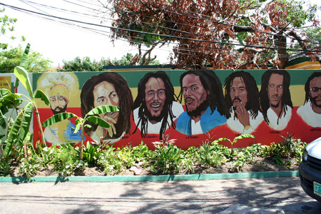 kingston: Bob Marley s house museum in the Kingston, Jamaica