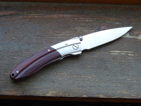 small butt: Knife folding Stock Photo