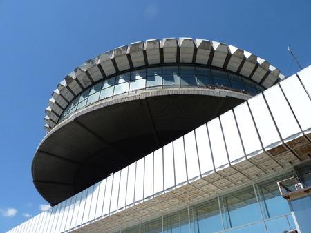 volgograd: Building of the Volgograd river port,  Washer  Editorial