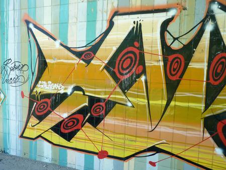 volgograd: graffiti Stalingrad on embankment walls in the city of Volgograd