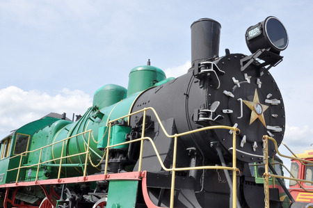 chamber of the engine: The engine in a museum of railway equipment in Brest, Belarus