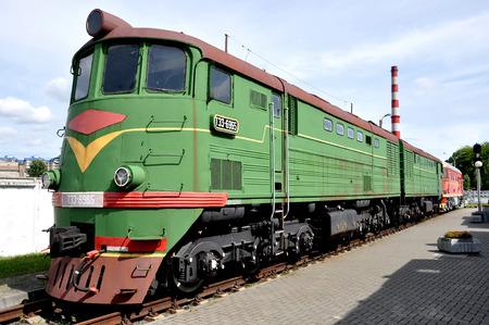 fuel chamber: Locomotive in a museum of railway equipment in Brest, Belarus