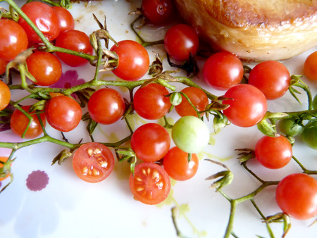 more mature: Tomatoes currants Stock Photo