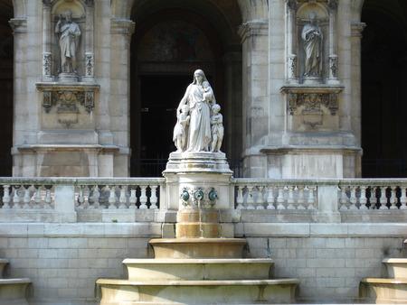 Sculptures at the temple in Paris photo