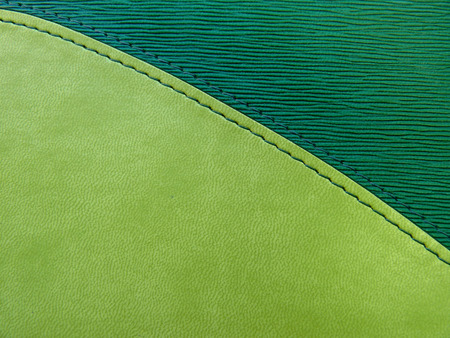 Leather green cover of a notebook photo
