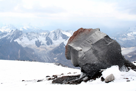 Monolith: Monolith on Mount Elbrus slope
