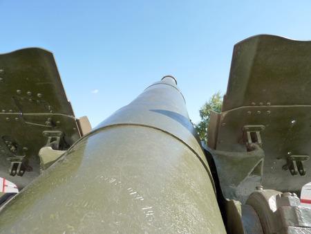 Soviet gun-howitzer of times of World War II