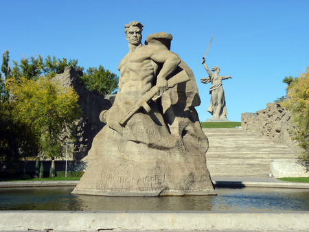 feat: Memorial \\\\\\\To a step backwards\\\\\\\ on Mamayev Kurgan in the city of Volgograd