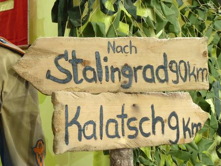 dislocation: Las señales de tráfico de las tropas alemanas en Stalingrado y en la kalatch - on - Don