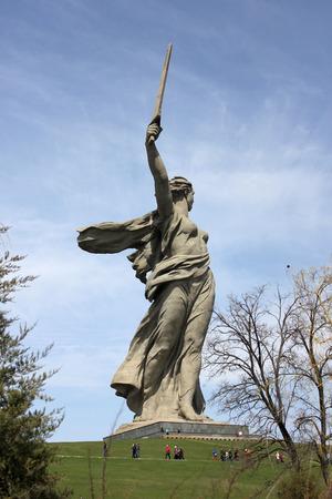 greatest: greatest sculpture in the world Motherland on Mamayev Kurgan in the city of Volgograd