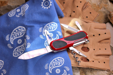 penknife: Penknife for the hidden carrying, as a collecting subject Stock Photo