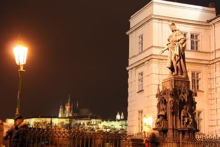karl: Monument to the king Karl before Karlovy Bridge in Prague