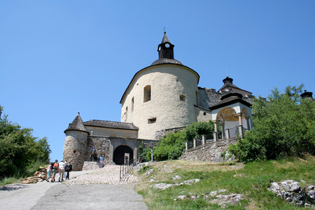 serf: Entrance to the serf castle of knights in Slovakia Editorial