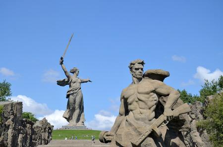 volgograd: Memorial To a step backwards on Mamayev Kurgan in the city of Volgograd Stock Photo