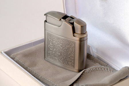 gas lighter: Gas gift lighter with original stylish drawing