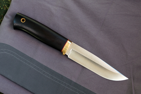 chrome molybdenum: Knife hunting tourist Russian production from high-carbonaceous steel