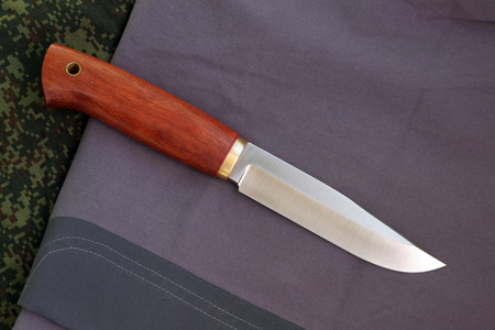 Knife hunting tourist Russian production from high-carbonaceous steel