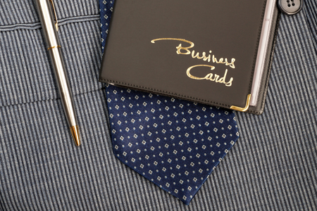 acquaintance: Case for business cards from a leather substitute