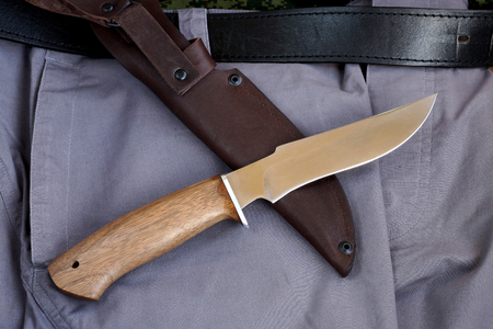 carbonaceous: Knife hunting tourist Russian production from high-carbonaceous steel