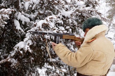 firmeza: Oficial, el defensor de Stalingrado en uniforme de invierno, la reconstrucción