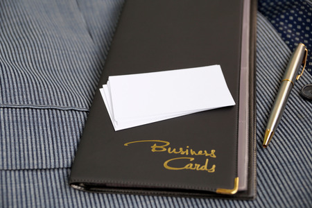 substitute: Case for business cards from a leather substitute and blank business cards