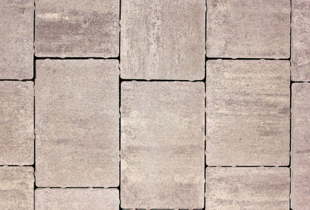 sidewalk sale: Paving slabs of various forms, flowers and the sizes for decoration of pedestrian zones