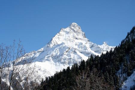 dombai: In the mountains of Dombai, Caucasus, Russia Stock Photo
