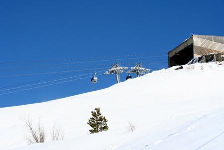 intermediate: Intermediate station in the mountains of Dombai, Caucasus