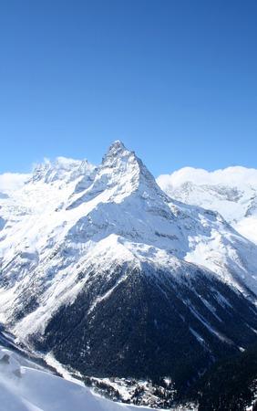 dombai: Mountain valley in the mountains of Dombai, Caucasus