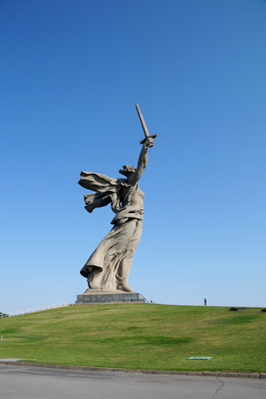 Sculpture, greatest in the world, Motherland on Mamayev Kurgan in the city of Volgograd Stock Photo