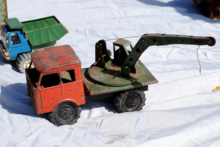 memoirs: Old rusty toy for in the form of the truck