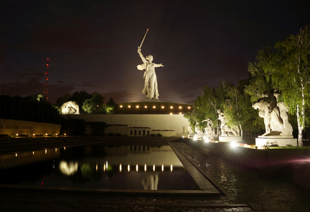 Greatest sculpture in the world Motherland on Mamayev Kurgan in the city of Volgograd