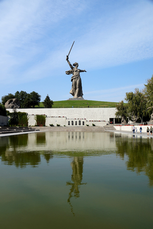 Sculpture, greatest in the world, Motherland on Mamayev Kurgan in the city of Volgograd Editorial