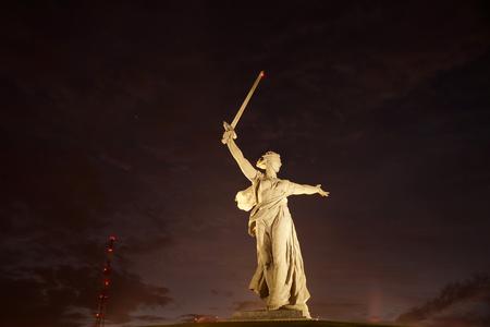Sculpture, greatest in the world, Motherland on Mamayev Kurgan in the city of Volgograd Stock Photo