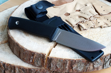 Knife hunting tourist from high-carbonaceous steel