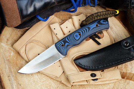 sheath: Knife hunting tourist from high-carbonaceous steel