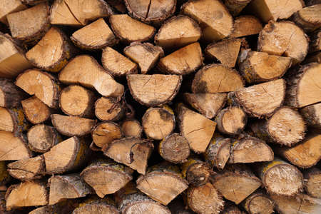 Laying of chock for production of firewood as fuel for an oven