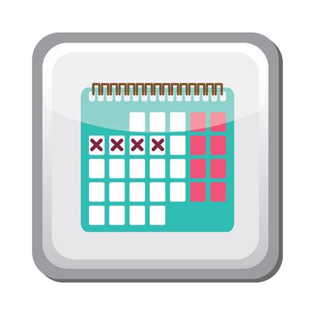 vulva: Contraception method calendar icon, family and parenthood, pregnancy Illustration
