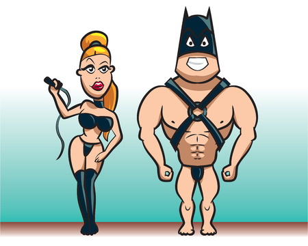 bdsm: Pair characters, young and beautiful