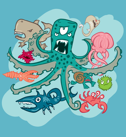 devilfish: Group of underwater monsters