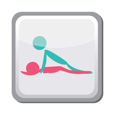 sex positions: Sexual position icon, kama sutra Illustration