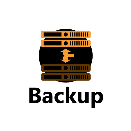 backup: rackmount technologic icon - backup yellow Illustration