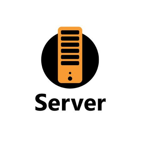 technologic: technologic icon - server yellow