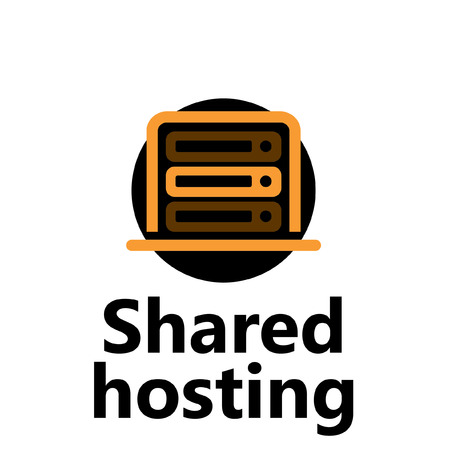 shared: technologic icon - shared hosting yellow