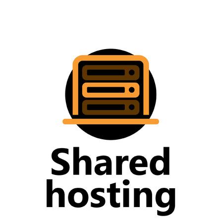 technologic: technologic icon - shared hosting yellow