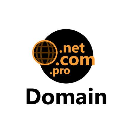 technologic icon - domain yellow Иллюстрация