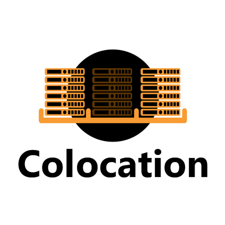 colocation: rackmount technologic icon - colocation yellow