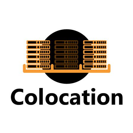 rackmount technologic icon - colocation yellow