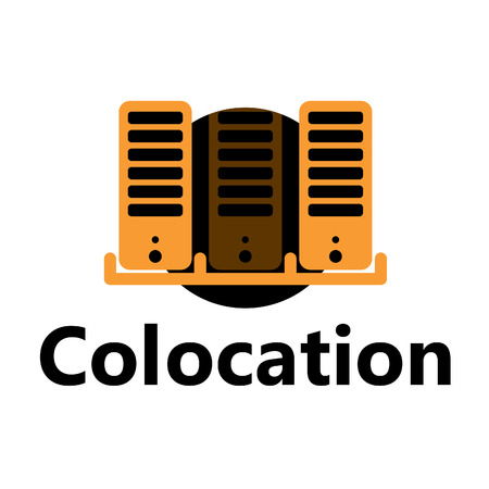 colocation: technologic icon - colocation yellow