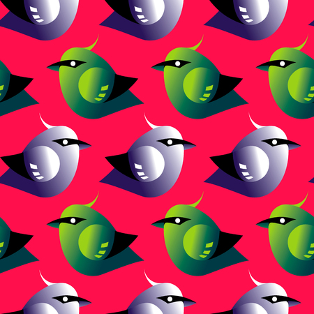 greed: Bird pattern background greed, red colored texture